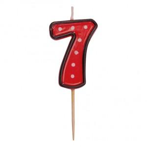 """Číslová sviečka na špajdli """"7"""" 50 mm [1 ks]"""