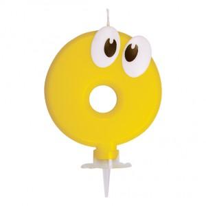 """Číslová sviečka so stojančekom """"0"""" 80 mm [1 ks]"""