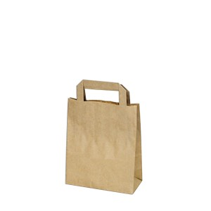 Papierová taška 18+8 x 22 cm hnedá [50 ks]
