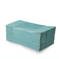 Papierové uteráky skladané ZZ, 25 x 23 cm, zelené [5000 ks]