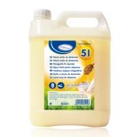 """Tekuté mydlo do dávkovača s vôňou """"Mlieko a Med"""" 5 litrov [1 ks]"""