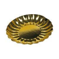 Papierové taniere okrúhle Ø 21 cm zlaté [2 ks]