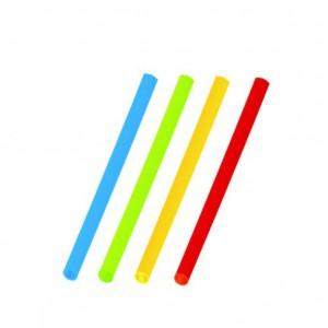 Slamky koktejlové farebné mix 13 cm, Ø 5 mm [100 ks]