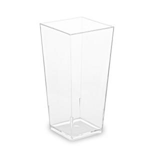 Fingerfood pohárik hranatý, číry 4 x 4 x 8,2 cm - 85 ml [40 ks]