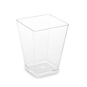 Fingerfood pohárik hranatý, číry 5,8 x 5,8 x 7,6 cm - 160 ml [20 ks]