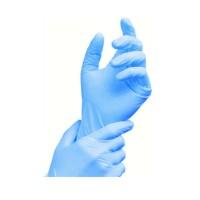 Rukavice nitrilové modré, nepúdrované (veľkosť L) [100 ks]