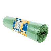 Vrecia na odpadky zelené 70x110cm, 120 l, Typ 60 [25 ks]