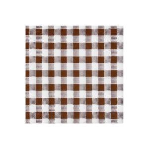 Servítky 1-vrstvé, 33 x 33 cm KARO hnedé [100 ks]