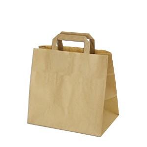 Papierové tašky 32-21 x 27 cm hnedé [50 ks]
