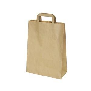 Papierové tašky 22-10 x 28 cm hnedé [50 ks]