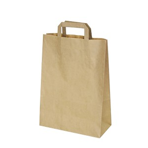Papierové tašky 26-12 x 36 cm hnedé [50 ks]