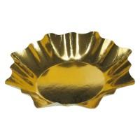 Papierové taniere HVIEZDA Ø 28 cm zlaté [25 ks]