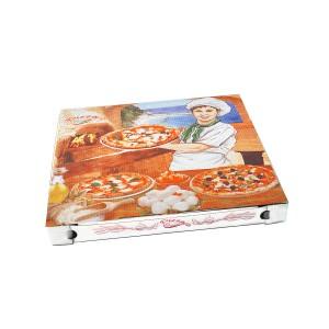 Krabica na pizzu z vlnitej lepenky 32,5 x 32,5 x 3 cm [100 ks]