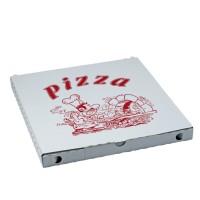 Krabica na pizzu z vlnitej lepenky 34,5 x 34,5 x 3,5 cm [100 ks]
