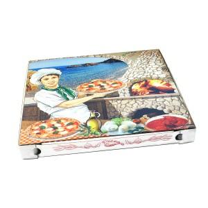 Krabica na pizzu z vlnitej lepenky 40 x 40 x 4 cm [100 ks]