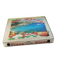Krabica na pizzu z vlnitej lepenky 50 x 50 x 5 cm [100 ks]