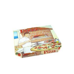 Krabica na pizzu z vlnitej lepenky 26 x 26 x 3 cm [100 ks]