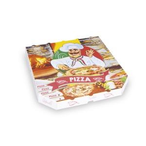 Krabica na pizzu z vlnitej lepenky 30 x 30 x 3 cm [100 ks]