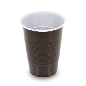 Kávový pohár hnedo-biely 0,18 l -PP- (Ø 70 mm) [100 ks]