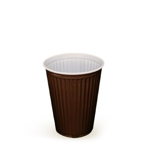 Automatový termo-pohárik hnedo-biely 0,15 l [100 ks]