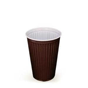 Automatový termo-pohárik hnedo-biely 0,18 l [100 ks]