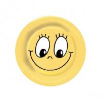 Papierové taniere Ø 23 cm SMILING FACE [10 ks]
