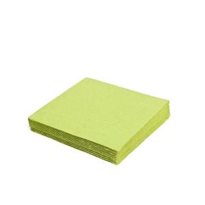 Servítky 2-vrstvé, 24 x 24 cm žltozelené [250 ks]